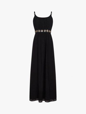 Yumi Embellished Maxi Dress Black
