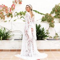 Boho wedding dress, wedding dress, caftan wedding dress, kimono robe