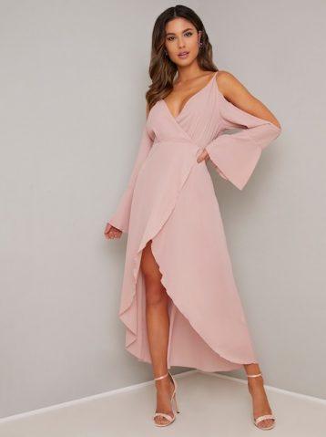 Chi Chi Ina Cold Shoulder Dress Blush Pink