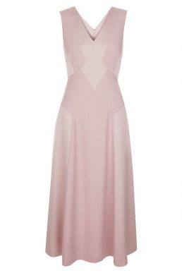 Hobbs Elaine Panelled Dress Pink Blush