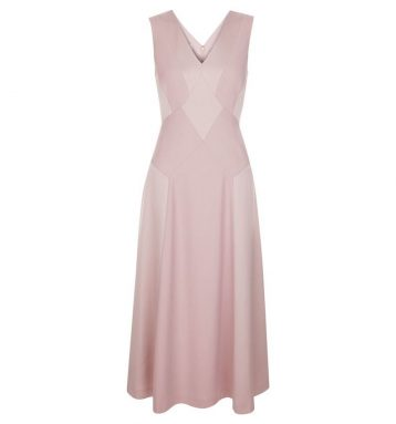 Hobbs Elaine Panelled Dress Pink Blush