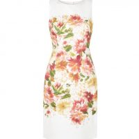 Hobbs Fiona Print Shift Dress Ivory Multi