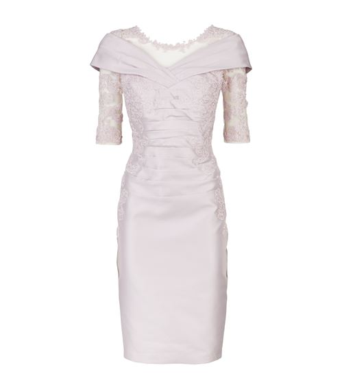 385ff2d7b88 John Charles Floral Lace Shift Dress, Purple