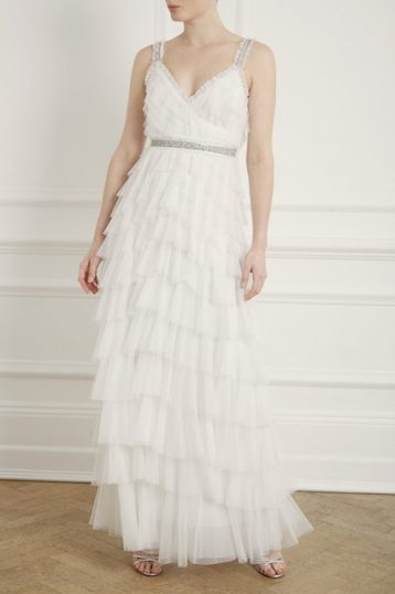 Needle & Thread Leilah Dotted Bridal Gown Ivory