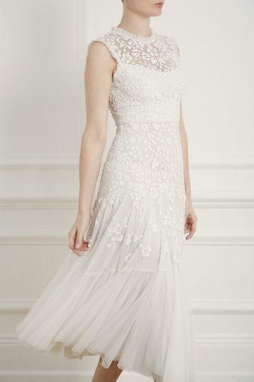 Needle & Thread Fallen Bella Sequin Sleeveless Ballerina Bridal Dress Ivory