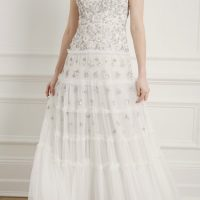 Needle & Thread Fallen Petals Sleeveless Bridal Gown Ivory
