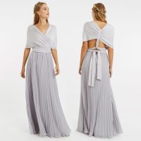 Oasis Wear Your Own Way Pleated Multiway Bridesmaid Maxi Silver
