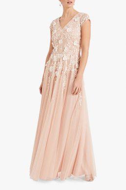 127bceb71ba33 Phase Eight Henriette Flower Embroidered Maxi Dress Pink Blush Ivory