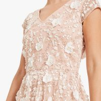 Phase Eight Henriette Flower Embroidered Maxi Dress Pink Blush Ivory