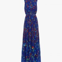 Phase Eight Henriette Printed Maxi Dress Blue Multi