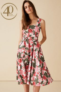 Phase Eight Patsy Floral Dress Pink White Multi