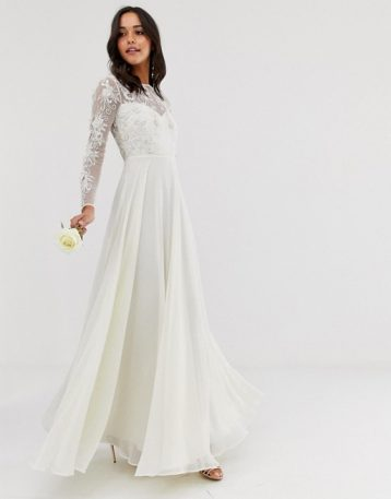 ASOS EDITION embroidered & beaded wedding dress Ivory