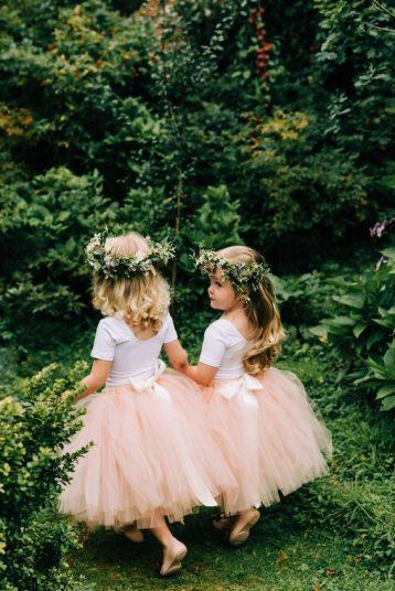 Flower girls bridesmaid tulle tutu skirt, Nude/Pale Pink