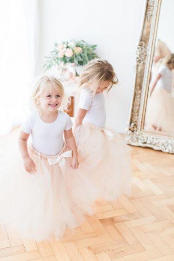 Flower girls bridesmaid tulle tutu skirt, Peach