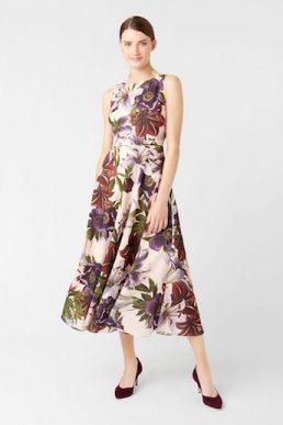 Hobbs Carly Floral Print Dress White Multi