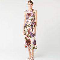 Hobbs Thao Floral Midi Dress White Multi