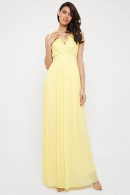 TFNC Madalen Pastel Maxi Bridesmaid Dress Yellow