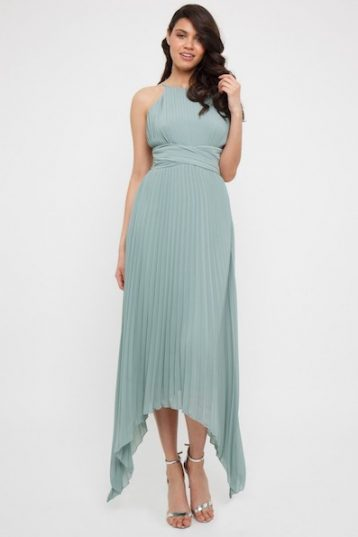 TFNC Morely Green Lily High-Low Maxi Bridesmaid Dress Light Green Mint