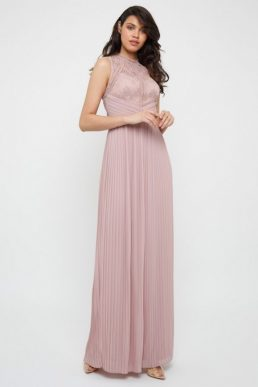 TFNC Naira Pale Mauve Maxi Bridesmaid Dress Blush Pink