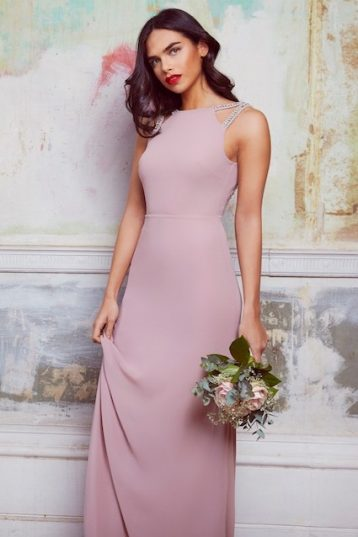 TFNC Riva Pale Mauve Maxi Embellished Bridesmaid Dress Pink