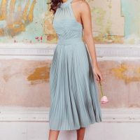 TFNC Samantha Lily Midi Bridesmaid Dress Light Green Mint