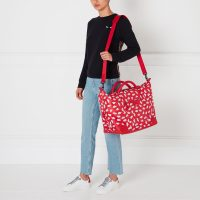 Lulu Guinness Scarlet Beauty Spot Fenella Holdall Red White