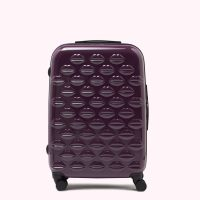 Lulu Guinness Purple Medium Hardsided Spinner Case