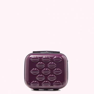 Lulu Guinness Purple Small Hardsided Lips Vanity Case