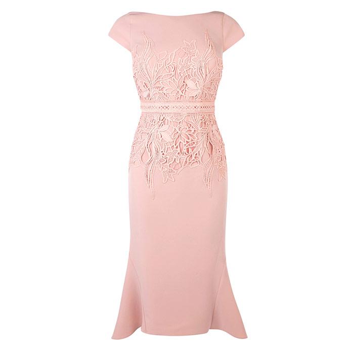 Blush Lace Waist Shift Dress