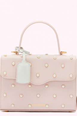 Lulu Guinness Blush Pearl Leather Queenie Handbag Pink