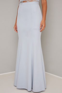 Chi Chi Michaela Mermaid Maxi Skirt Pale Blue