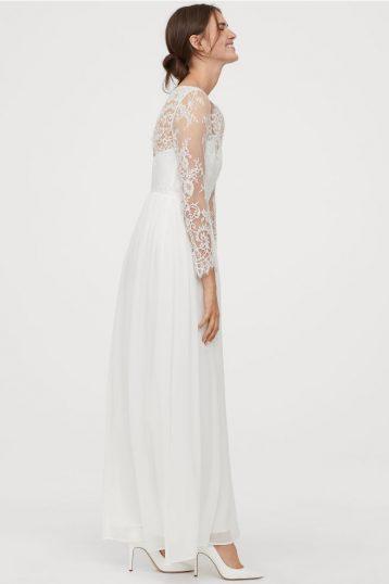 Hm Wedding Dress.H M Lace Sleeve Wedding Dress Ivory