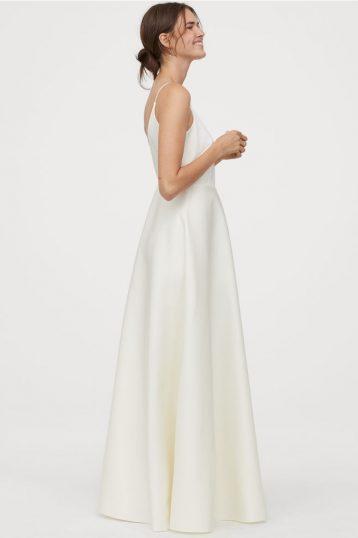 Hm Wedding Dress.H M Conscious Wedding Maxi Dress V Back Ivory