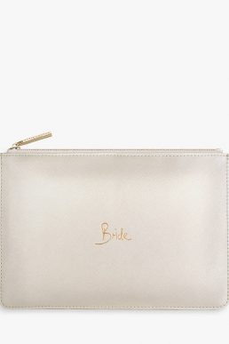 Katie Loxton 'Bride' Perfect Pouch, Pearlised White