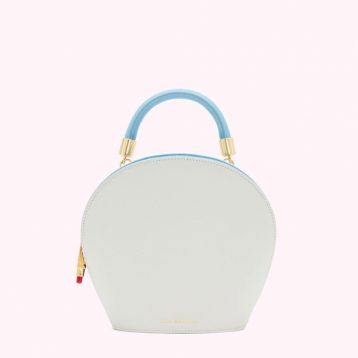 OYSTER LEATHER WILLOW HANDBAG