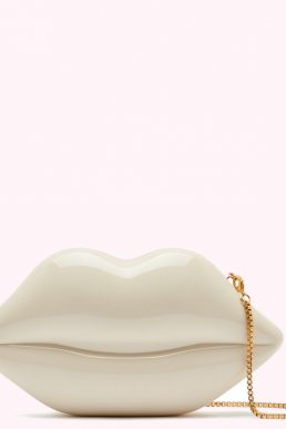 Lulu Guinness Nude Medium Lips Clutch