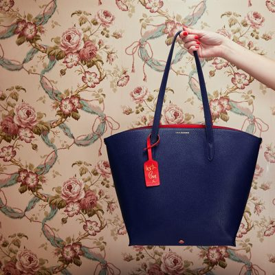 Navy Leather Agnes Tote, £275