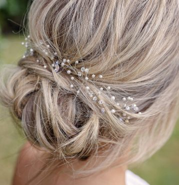 Delicate Pearl And Crystal Hair Vine