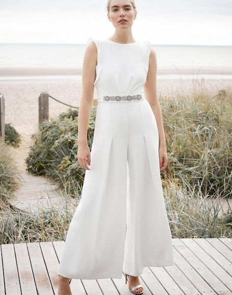 aliexpress promo codes huge discount Phase Eight Victoriana Bridal Jumpsuit, Ivory