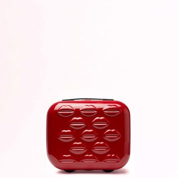 Lulu Guinness Red Small Hardsided Lips Vanity Case