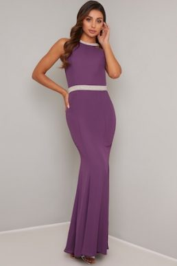 Chi Chi Scout Embellished Maxi Dress Purple