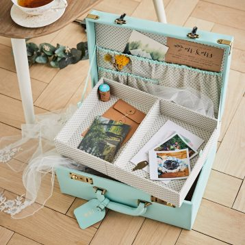 Personalised Wedding Memory Suitcase Keepsake Box