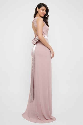 TFNC Halannah Lace Sleeveless Pale Mauve Maxi Dress Blush Pink