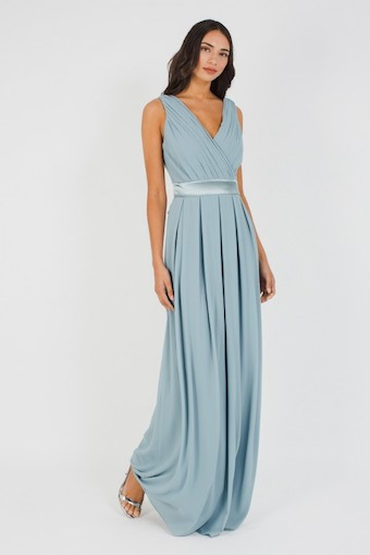 TFNC Kily Bridesmaid Maxi Dress Blue Grey