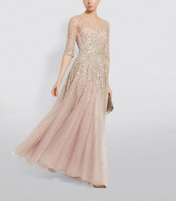 Jenny Packham Charisse Beaded Tulle Bridal Gown Cream Pink Blush