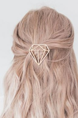 Gold Or Silver Diamond Hair Clip