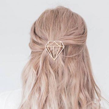 Gold Or Silver Diamond Hair Clip