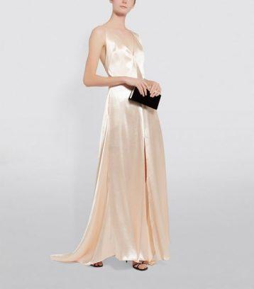 Philosophy Di Lorenzo Serafini Satin Maxi Dress Blush Champagne