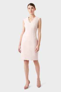 Hobbs Frida Shift Dress Light Pink Blush