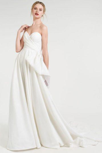 Jenny Yoo Charlotte Sweetheart Taffetta Ballgown Wedding Dress Dark Ivory